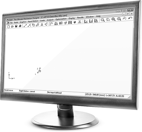 monitor Antriebsbewegung - SAM - The Ultimate Mechanism Designer - Artas Engineering